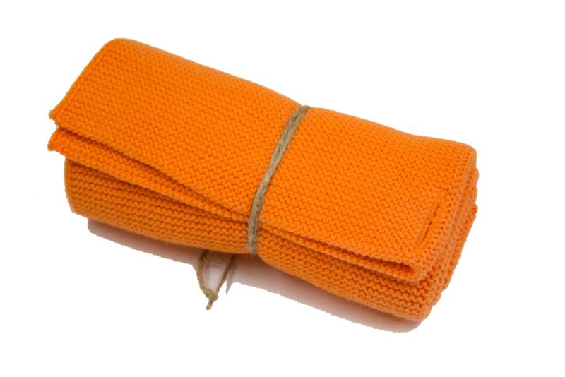 Knitted towel Solwang Design, bright orange