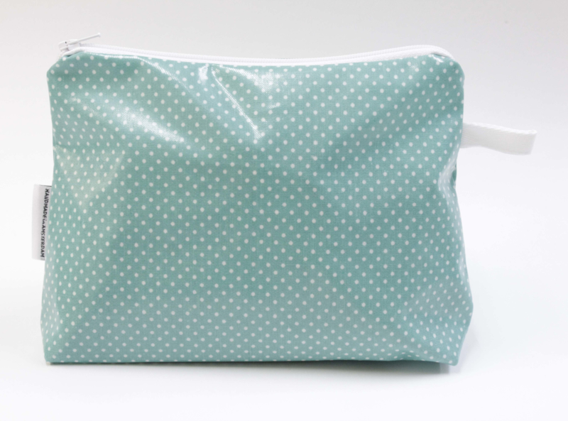 Mini dot spearmint, make-up bag NILSEN