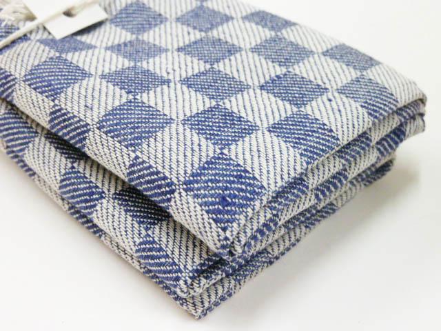 Dark blue checked kitchen towels