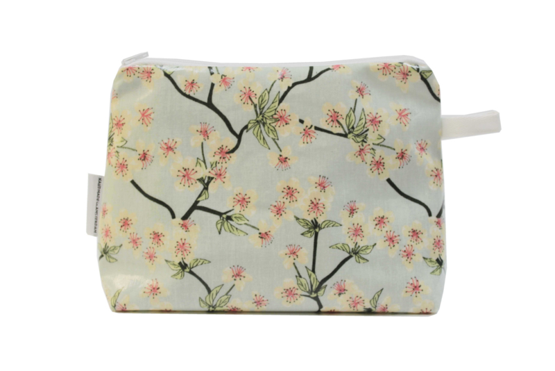 'Blossom' light blue make-up bag, Nilsen
