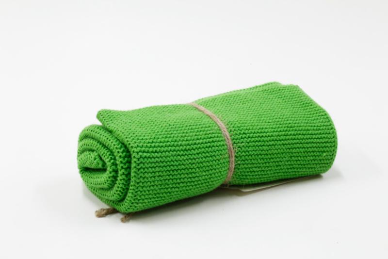 Knitted towel Solwang Design, gras green