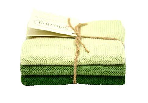 Wash cloth Solwang Design, green