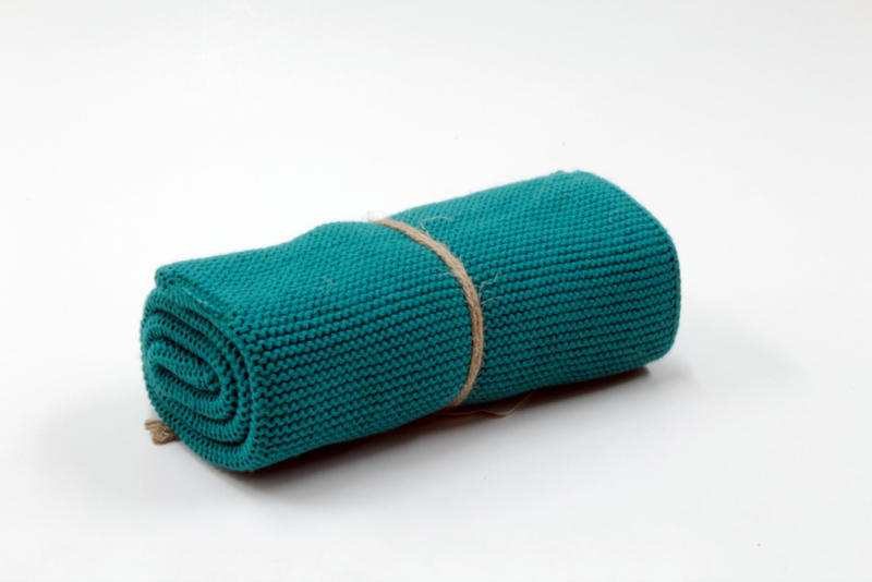 Knitted towel Solwang Design, dark turquoise