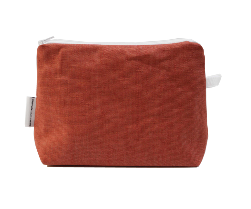 Linen terra make-up bag, Nilsen