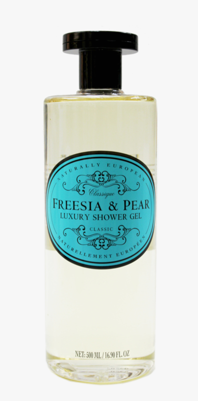Freesia &  Pear Vegan shower gel, Naturally European
