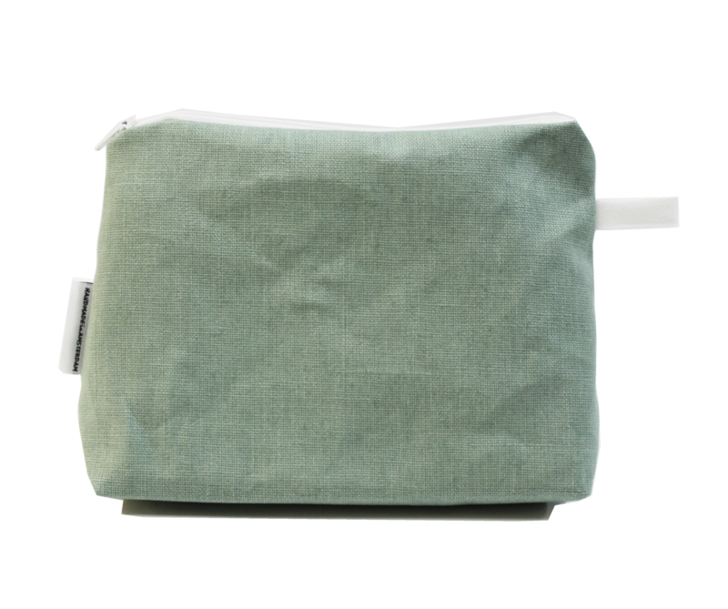 Linen mint make-up bag, Nilsen