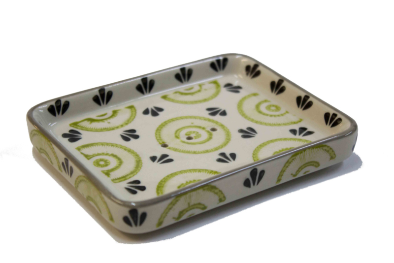 Soap dish, green/black