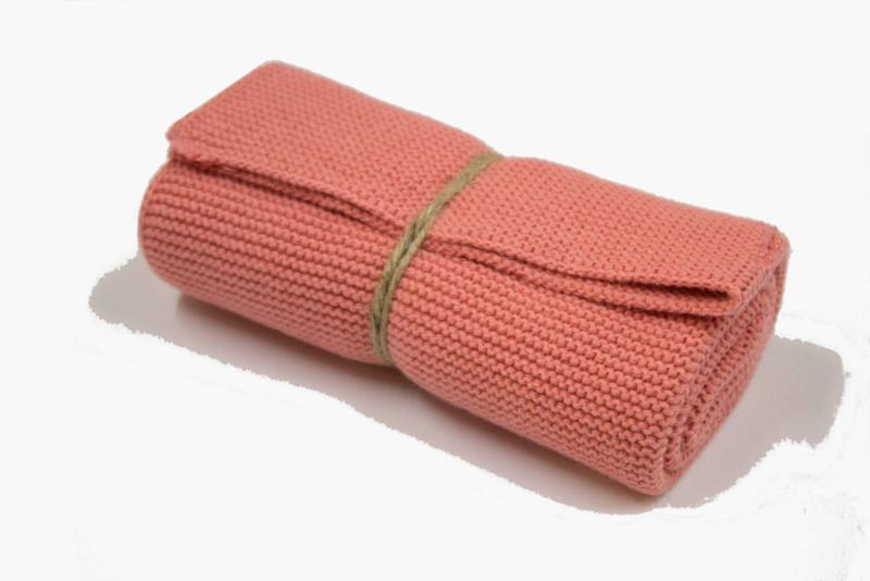 Knitted towel Solwang Design, dark powder