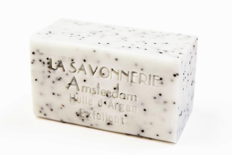 Argan oil, exfoliating soap