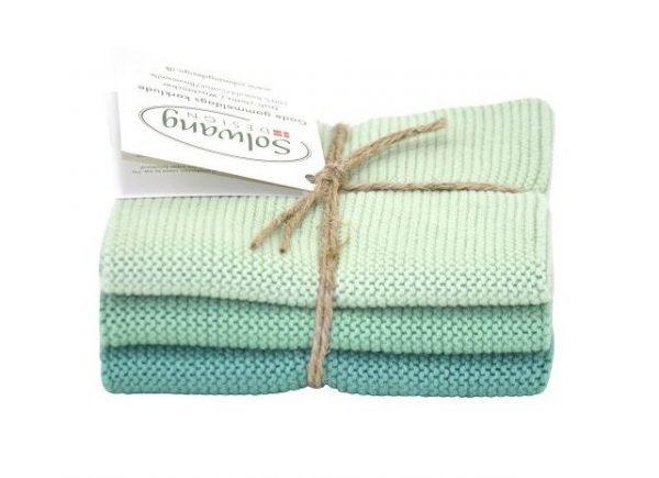 Wash cloth Solwang Design, turquoise