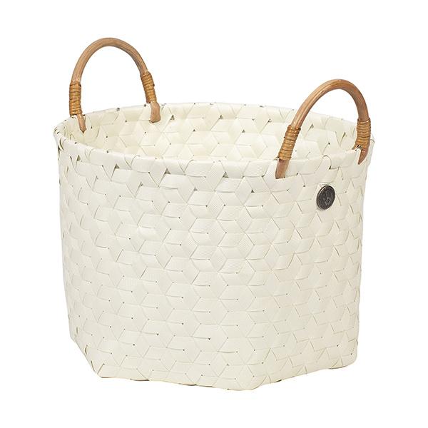 Ecru white basket, dimentional