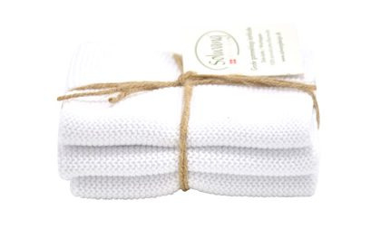 Wash cloth Solwang Design, white