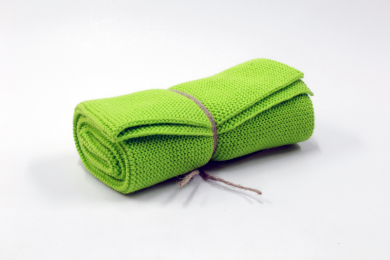 Knitted towel Solwang Design, lime
