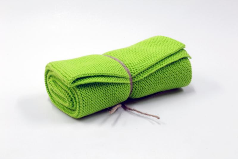 'Fresh green' , knitted towel solwang