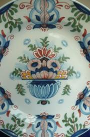 20% KORTING Tichelaar Makkum:  prachtig gedecoreerd groot wandbord 39 cm nr 351