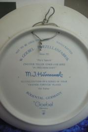 Origineel Hummel bordje 17,5 cm serie In Freundschaft 293 Für Vaterle, Goebel