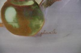 Prachtige originele kopergravure boeket bloemen nr.3
