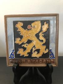 Cloisonné tegel Westraven: Porvincie Noord Brabant 10,5x10,5 cm