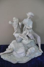 Lladro porselein: beeld Romantic Group / Gruppo Pastoral 01014662