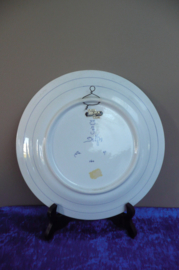 20% KORTING: de Porceleyne Fles wandbord nr. 1160 jaarletter CP=1971 doorsnede 25 cm schilder J.TW. (Mw. J.M. Twigt 1964-1973)