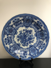 de Porceleyne Fles: prachtig Delfts Blauw  wandbord nr. 927 decor bloemen jaarletters BU=1950 schilder dhr. J. Frolich jr. (1932-1979) 41 cm