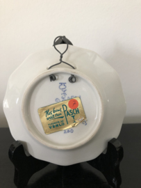 20% KORTING:  de Porceleyne Fles klein wandbordje 10,5 cm