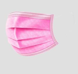 mondkapje, wegwerp roze
