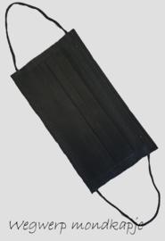mondkapje, zwart wegwerp