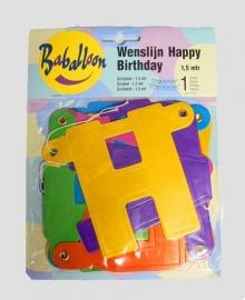 wenslijn, happy birthday