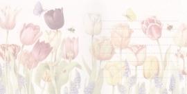 uitnodiging met bloemen, per 5 stuks