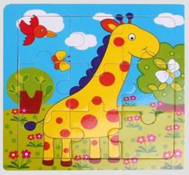 houten puzzeltje, giraffe