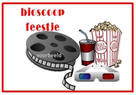uitnodiging bioscoopfeestje, per 8 stuks