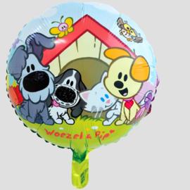 woezel en pip folieballon, 45 cm
