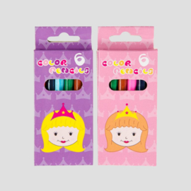 kleine kleurplaatjes prinses, per 6 stuks