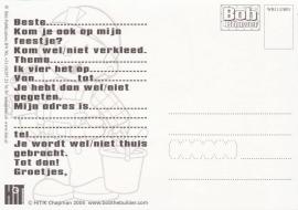 """uitnodiging """"Bob de Bouwer"""", Wendy, per 5 stuks"""