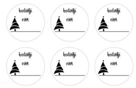 stickers kerst, per 24 stuks