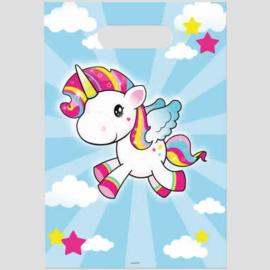 partybags, unicorn (éénhoorn) per 8 stuks