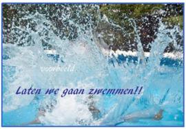 uitnodiging zwemfeestje, per 8 stuks