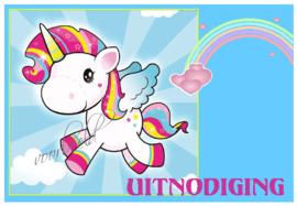 uitnodigingen unicorn-2 (éénhoorn), per 12 stuks