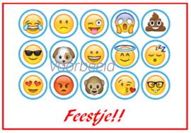 "uitnodiging ""emoji"", per 8 stuks"