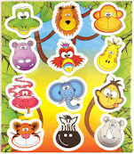 stickervel jungle dieren