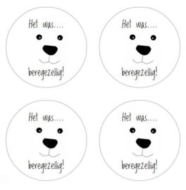 stickers, beregezellig, per 24 stuks