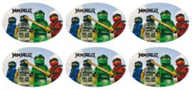 stickers ninjago glans, 18 stuks