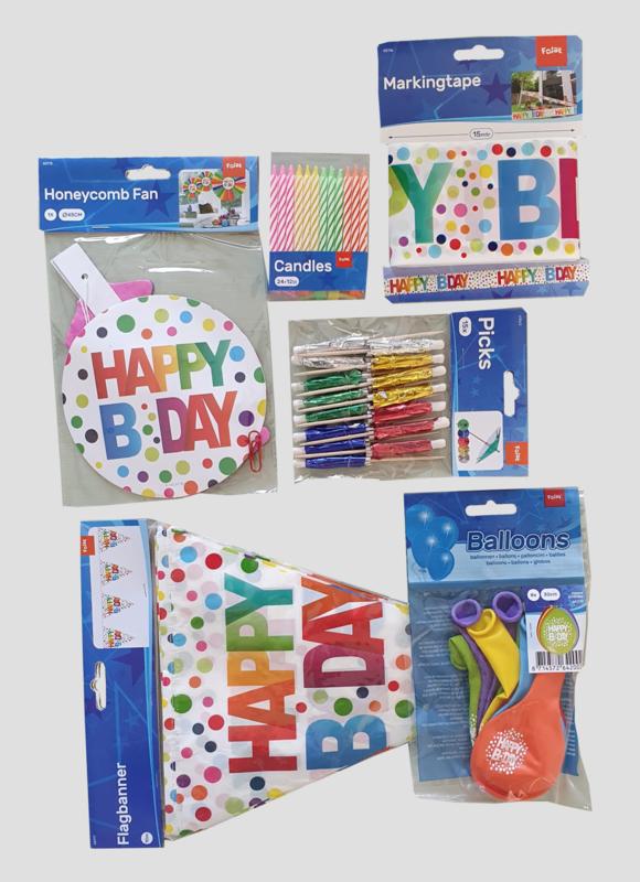 happy Bday, feestpakket