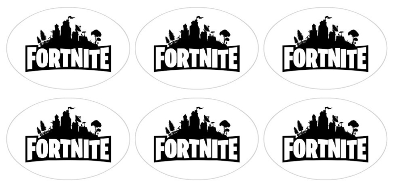 stickers fortnite glans, 18 stuks