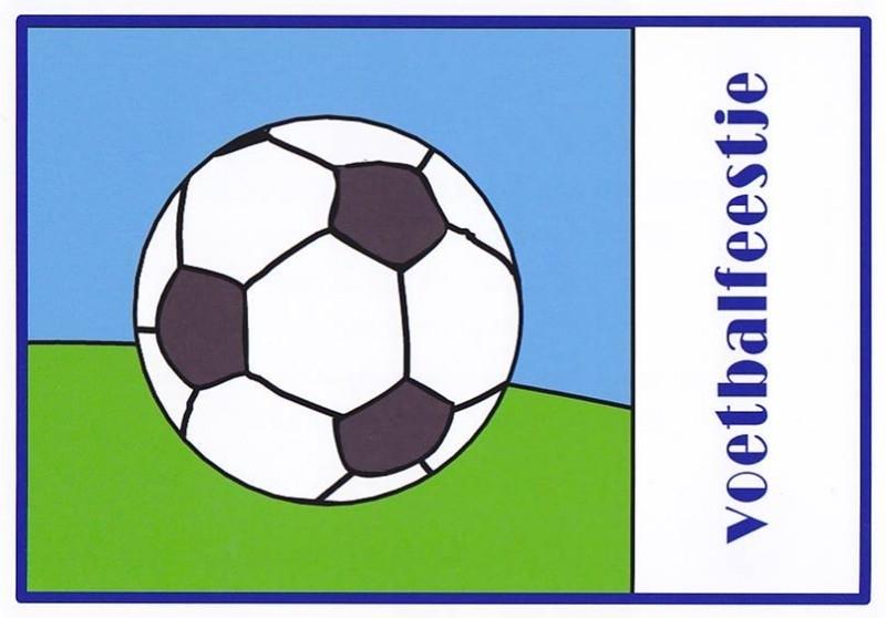uitnodiging voetbalfeestje, per 8 stuks