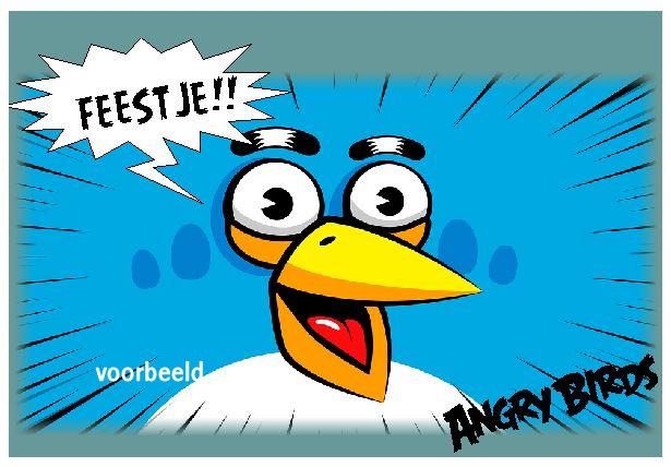 uitnodigingen angry birds, per 8 stuks