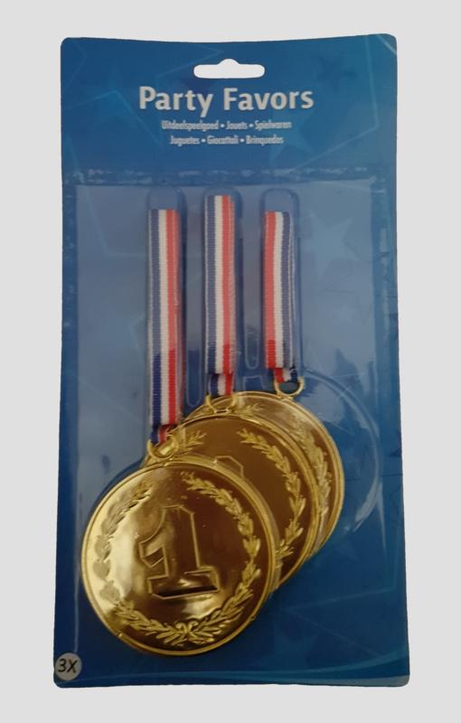 medailles nr 1, per 3 stuks