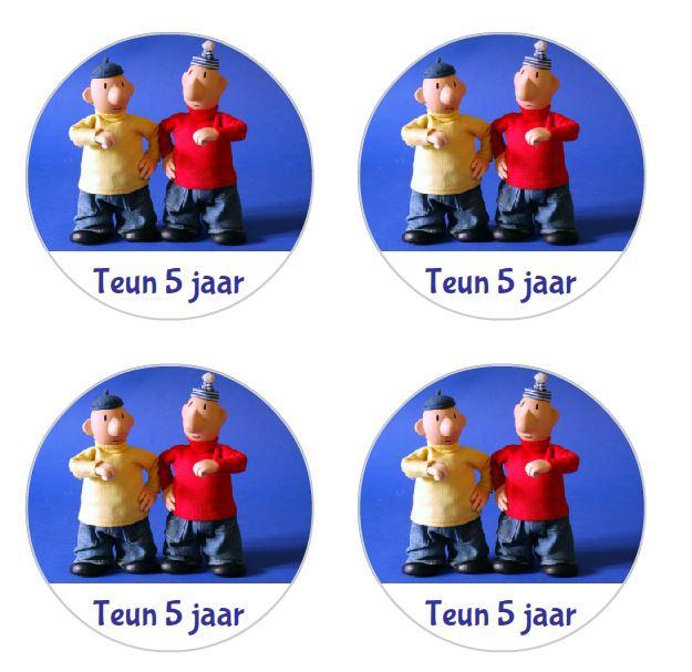 buurman en buurman stickers, 4 cm, per 24 stuks