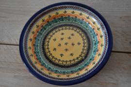 Diep bord   (pasta/soep)  Ø22cm  Unikat uitvoering